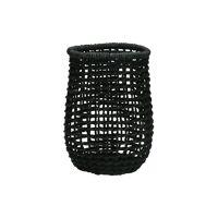 OSTERIA - panier à couverts / porte-bouteille - papier - DIA 13 x H 18 cm - noir