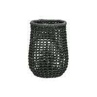 OSTERIA - cutlery basket / bottle holder - paper - DIA 13 x H 18 cm - grey blue