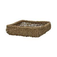 OSTERIA - napkin basket - jute - L 22 x W 22 x H 6 cm - natural