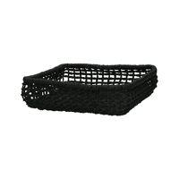 OSTERIA - napkin basket - paper - L 22 x W 22 x H 6 cm - black