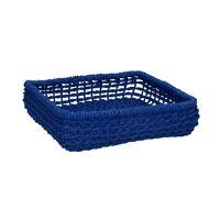 OSTERIA - napkin basket - paper - L 22 x W 22 x H 6 cm - blue