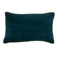 VERSAILLES - cushion - velvet - L 50 x W 30 cm - petrol