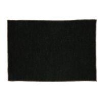 LA FÊTE - set/4 chemins de table - lin / coton - L 48 x W 33 cm - noir