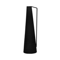 GRAVEL - vase - métal - DIA 10,5 x H 36 cm - noir