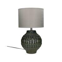 LUZ - tafellamp - keramiek / metaal - DIA 33 x H 53,50 cm - donkergroen