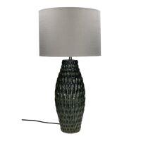 LUZ - tafellamp - keramiek / metaal - DIA 30 x H 62 cm - donkergroen