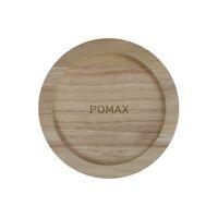 PURE - dessous de bougie - bois de paulownia - DIA 12,5 x H 2,5 cm - naturel
