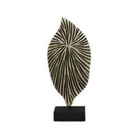 CONTRAZT - deco object - pine wood / metal - L 19 x W 10 x H 42 cm - natural/black