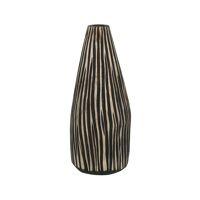 CONTRAZT - vase - bois de pin - DIA 16 x H 32 cm - naturel/noir