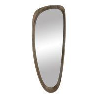VIK - spiegel - mdf / grenen fineer - L 33 x W 4,5 x H 89 cm - taupe