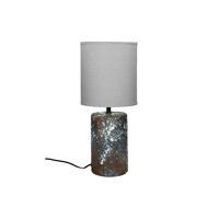 GROOVE - tafellamp - keramiek - DIA 18 x H 42 cm - bruin