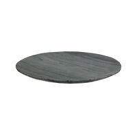 MARMAR - coaster - marble - DIA 20 x H 1,5 cm - black