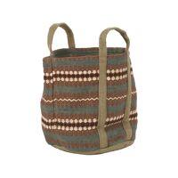 TIDDA - basket - jute / cotton - L 40 x W 65 x H 45 cm - mix of colours