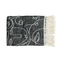 KAO - plaid - polyester / acryl - L 170 x W 130 cm - zwart/wit