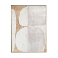 DOLMEN - canvas met kader - canvas / hout - L 100 x  W 4,3 x H 140 cm - gebroken wit