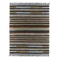LORENZO - tapijt - leder / henneptouw - L 240 x W 180 cm - veelkleurig