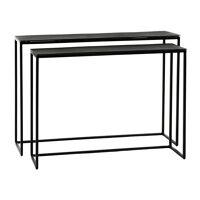 TRIA - set/2 consoles - aluminium - L 76/86 x W 24/28 x H 56/60 cm - black