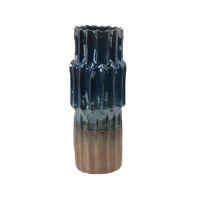 STAPO - vase - céramique - DIA 15,5 x H 37 cm - iridescent