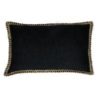 SEBU - cushion - cotton - L 50 x W 30 cm - black