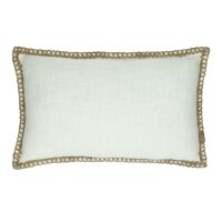 SEBU - coussin - coton - L 50 x W 30 cm - blanc