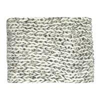 NITTU - throw - acrylic - L 150 x W 125 cm - black/white