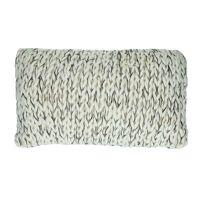 NITTU - cushion - acrylic - L 50 x W 30 cm - black/white