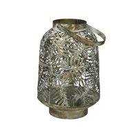 TROPIC - lantern - metal - DIA 21 x H 31 cm - champagne