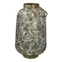 TROPIC - lantern - metal - DIA 28,5 x H 47 cm - champagne