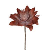FIORI - kunstbloem - kunstleer - H 92 cm - oranje