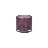 SKLO - photophore - verre - DIA 6 x H 6 cm - aubergine