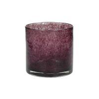 SKLO - photophore - verre - DIA 12 x H 12 cm - aubergine