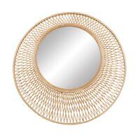 CA LO - miroir - bambou - DIA 80,5 x H 3 cm - naturel