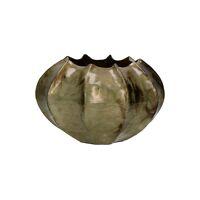 HEDIA - vase - aluminium - DIA 27 x H 15 cm - brass