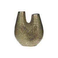 MARRON - vase - aluminium - L 26 x W 12 x H 29 cm - or