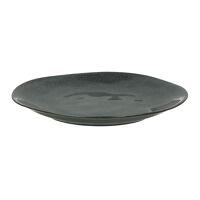 PAULINE - assiette plate - grès - DIA 26,5 x H 3 cm - gris