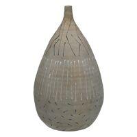 SKYRO - vaas - aardewerk - DIA 23 x H 37 cm - licht grijs
