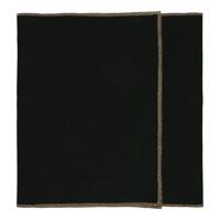 LA FÊTE - set/2 tafellopers - linnen / katoen - L 140 x W 40 cm - zwart