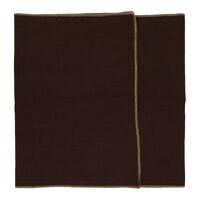 LA FÊTE - set/2 chemins de table - lin / coton - L 140 x W 40 cm - brun