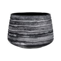 ROCK - flower pot - glass - DIA 23 x H 16 cm - grey