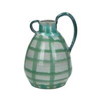 MANO - vaas - aardewerk - L 18 x W 18 x H 25 cm - groen
