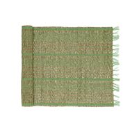 CARCASSONNE - table runner - seagrass / cotton - L 140 x W 40 cm - green