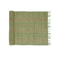 CARCASSONNE - chemin de table - jonc de mer / coton - L 140 x W 40 cm - vert