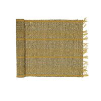 CARCASSONNE - table runner - seagrass / cotton - L 140 x W 40 cm - yellow