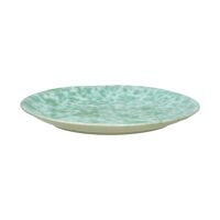 MILLEFEUILLE - assiette plate - grès - DIA 28 x H 2,5 cm - vert