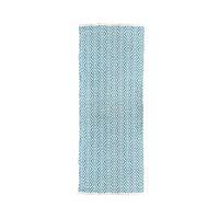 MEKNES - tapijt - katoen - L 200 x W 70 cm - turkoois