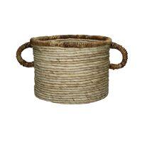 LOMBOK - basket - banana fiber - L 40 x W 60 x H 30 cm - natural