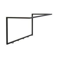 ESZENTIAL - wall hook 5 hooks - metal - L 60 x W 30 x H 30,5 cm - black