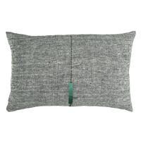 CORBUSIER - kussen - linnen - L 60 x W 40 cm - zwart