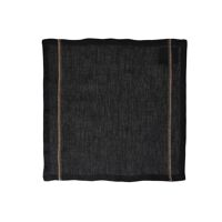 TRIA - set/4 serviettes - lin - L 45 x W 45 cm - noir