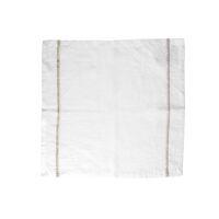 TRIA - set/4 serviettes - lin - L 45 x W 45 cm - blanc